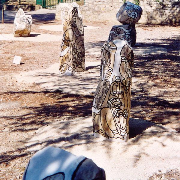 6 pierres peintes