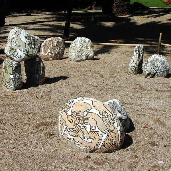 Un jardin de pierre-peintes