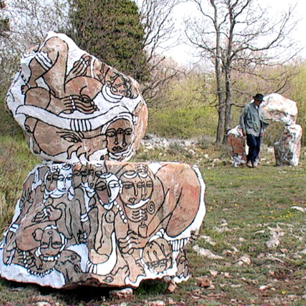 Jardin de pierres du col de Vence