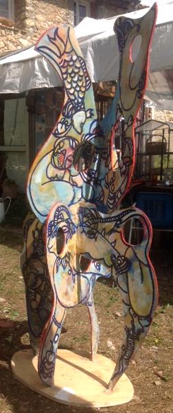 Sculpture plexiglas en septembre 2014